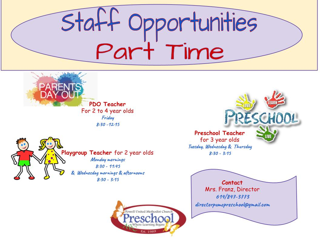 Staff Opportunity 4-13-21