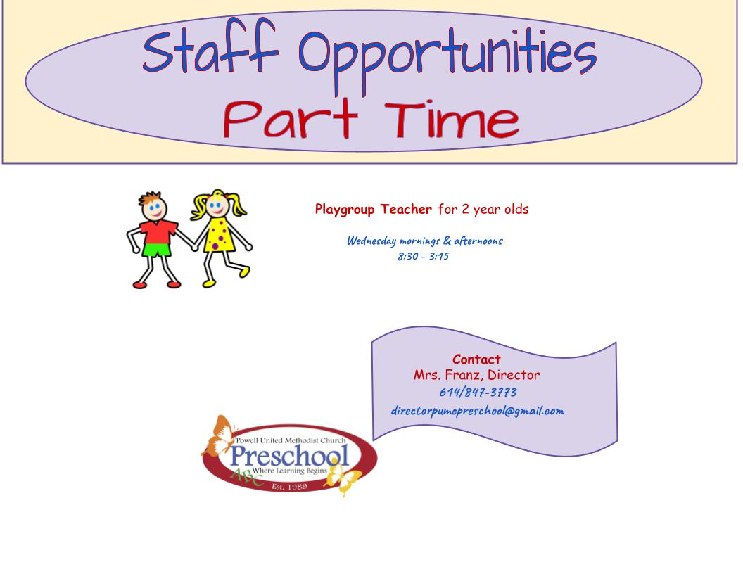Staff Opportunity 6-14-21