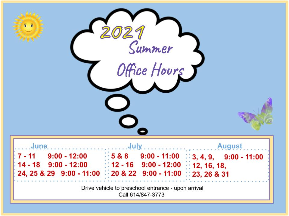2021 Summer Office Hours 6_16_21